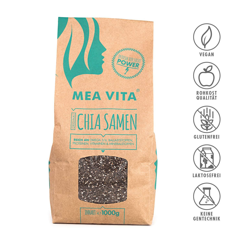 Las semillas de chía, MeaVita premium paquete 1er (1 x 1000 g)