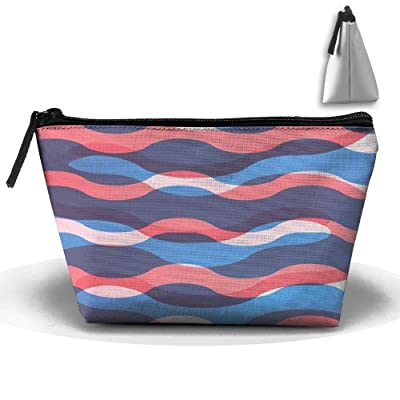 A Pattern Of Water Snake Shapes Personality Portable Women Trapezoid Travel Bag Cosmetic Bag Receive Bag