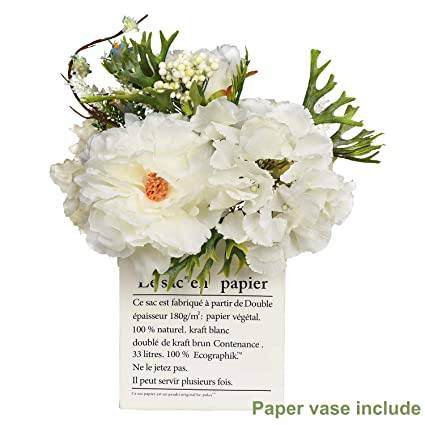 53696937ed Artiflr Peonies Artificial Flower Bouquet, Bridal Bouquet Hydrangea Flower  Peonies Silk Flowers for Wedding Peonies Silk Flowers Arrangement for Home  ...