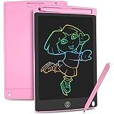 HOMESTEC Tableta Escritura LCD Color, Pizarra Digital para apuntar recordatorios Escribir o Dibujar (8,5 Pulgadas, Rosa)