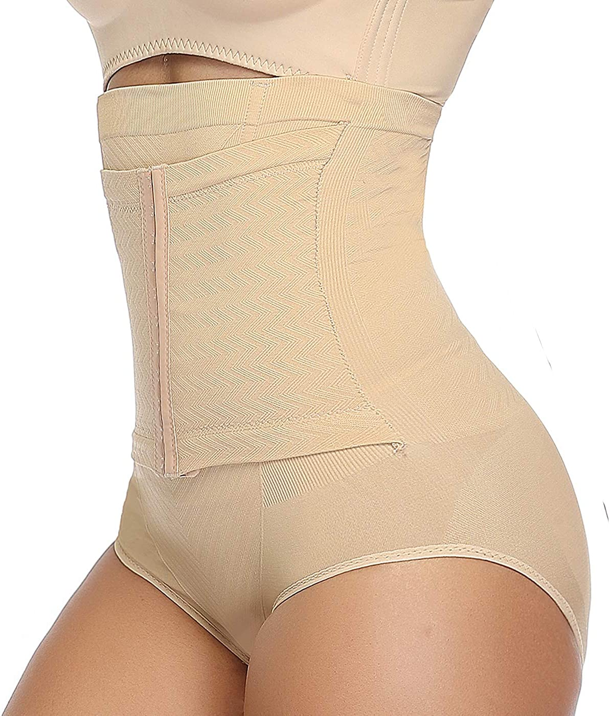 COMFREE Tummy Control Knickers Slimming Pants Shapewear Underwear for Women Black Beige