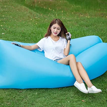 Fantastic Amazon Com Yjiao Inflatable Bed Sofa Portable Air Recliner Bralicious Painted Fabric Chair Ideas Braliciousco