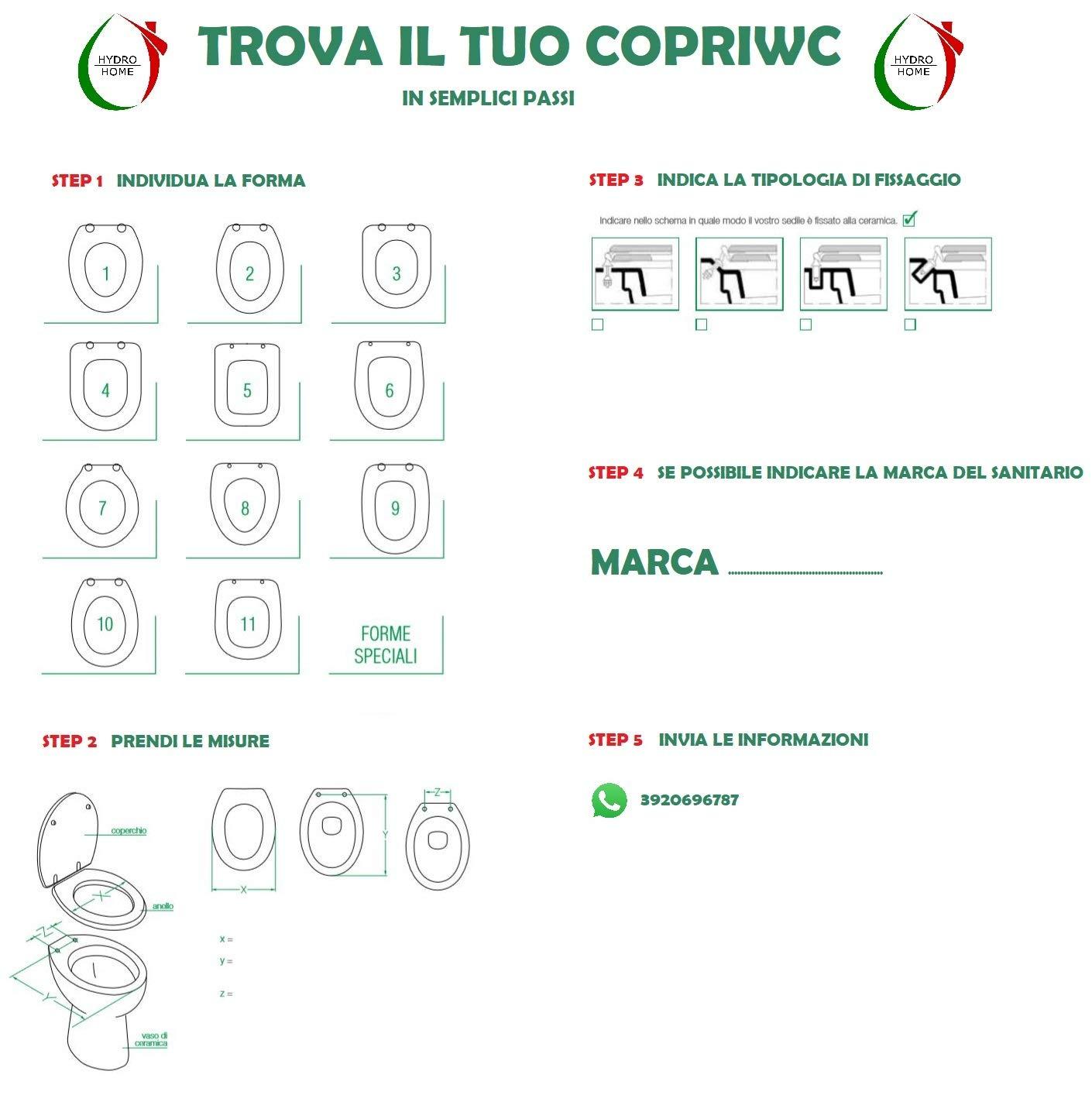Copriwater TESI IDEAL STANDARD termoindurente avvolgente compatibile