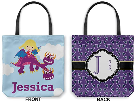 Multiple Sizes Personalized YouCustomizeIt Girl Flying on a Dragon Duffel Bag