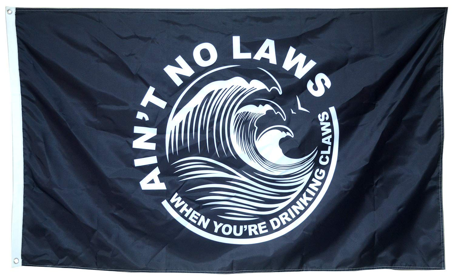 Cayyon White Claw Flag Black Ain't No Law 3x5FT