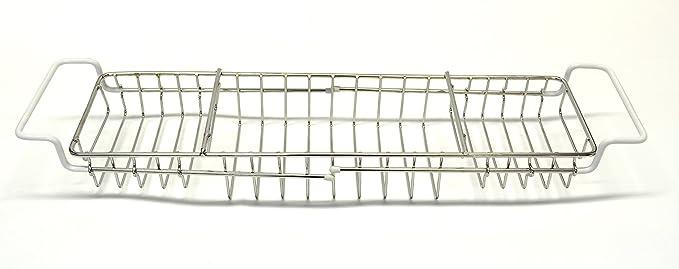 Wenko Puente Bañera Extensible, Acero Inoxidable, Plata Brillante, 13x92x8 cm: Amazon.es: Hogar