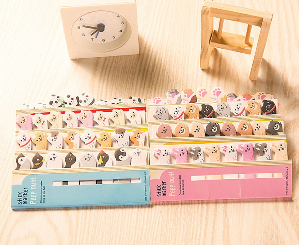 Penguin 1 X 120 Sheets Cute Animal Sticker Bookmark Sticky Notes Memo Note Pads Page Flag