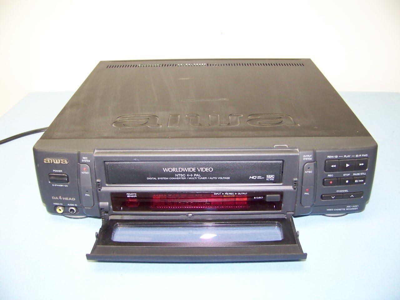 Amazon.com: Aiwa hv-mx1 en todo el mundo Vídeo Ntsc/pal VCR ...