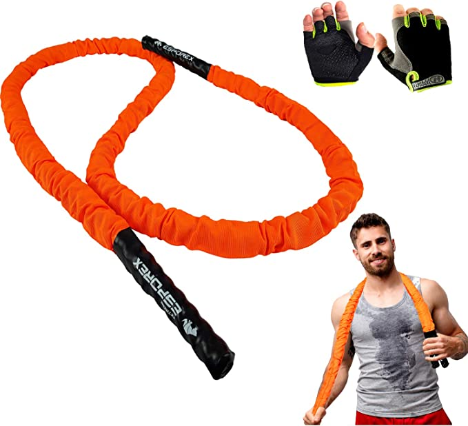 Sleeve 25mm Fitness Heavy Jump Ropes Weighted Battle Skipping Rope Training