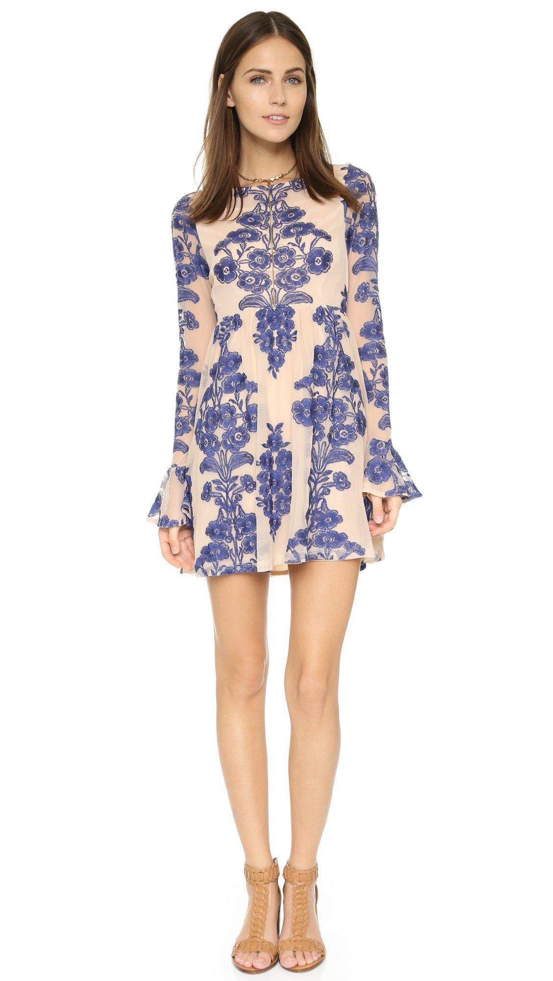 For Love & Lemons Women's Temecula Mini Dress, Navy, Small by For Love & Lemons (Image #4)