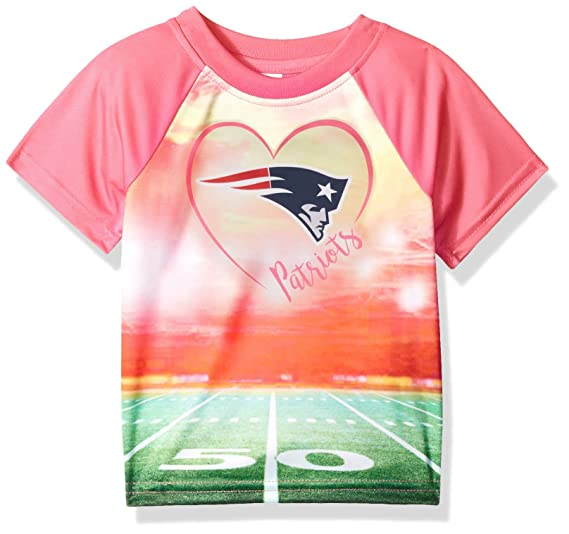 timeless design 906d7 96bed NFL New England Patriots Baby-Girls Short-Sleeve Tee, Pink, 18 Months