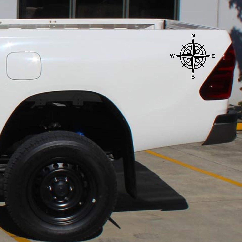 Autodomy Kompass Off Road Sport Trail 4x4 Adventure Aufkleber Paket 2 St/ück f/ür Auto oder Motorrad Schwarz, 10 cm