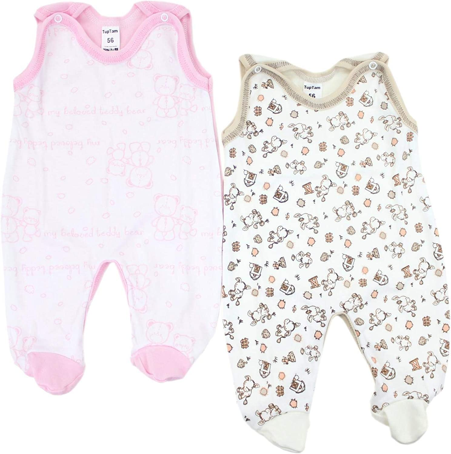 Pack of 5 TupTam Baby Romper Suit with Feet