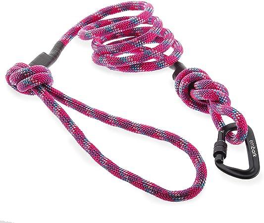 Embark Pets Sierra - Correa para perro con cuerda de escalada y mosquetón (rosa)