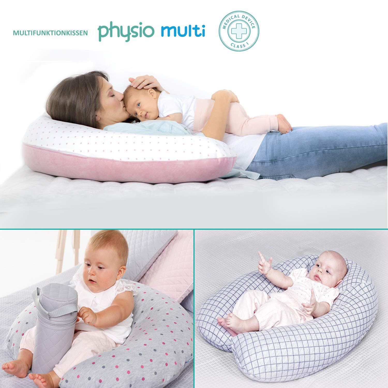 Multi Amore Stillkissen Lagerungskissen mit EPS Mikroperlen Seitenschl/äferkissen 190 cm f/ür Baby