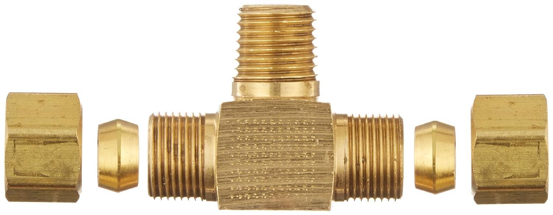 1//8 Male Pipe Size 1//4 Tube OD 1//8 Male Pipe Size CA360 Brass 1//4 Tube OD EATON Weatherhead 72X4 Male Branch Tee