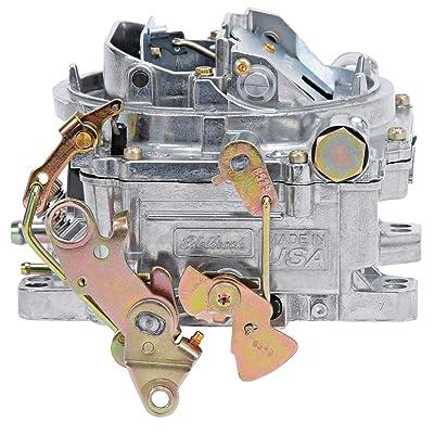 Edelbrock 1905 AVS2 Series Carburetor 650 cfm Square Flange Non-EGR Manual Choke Satin AVS2 Series Carburetor: Automotive