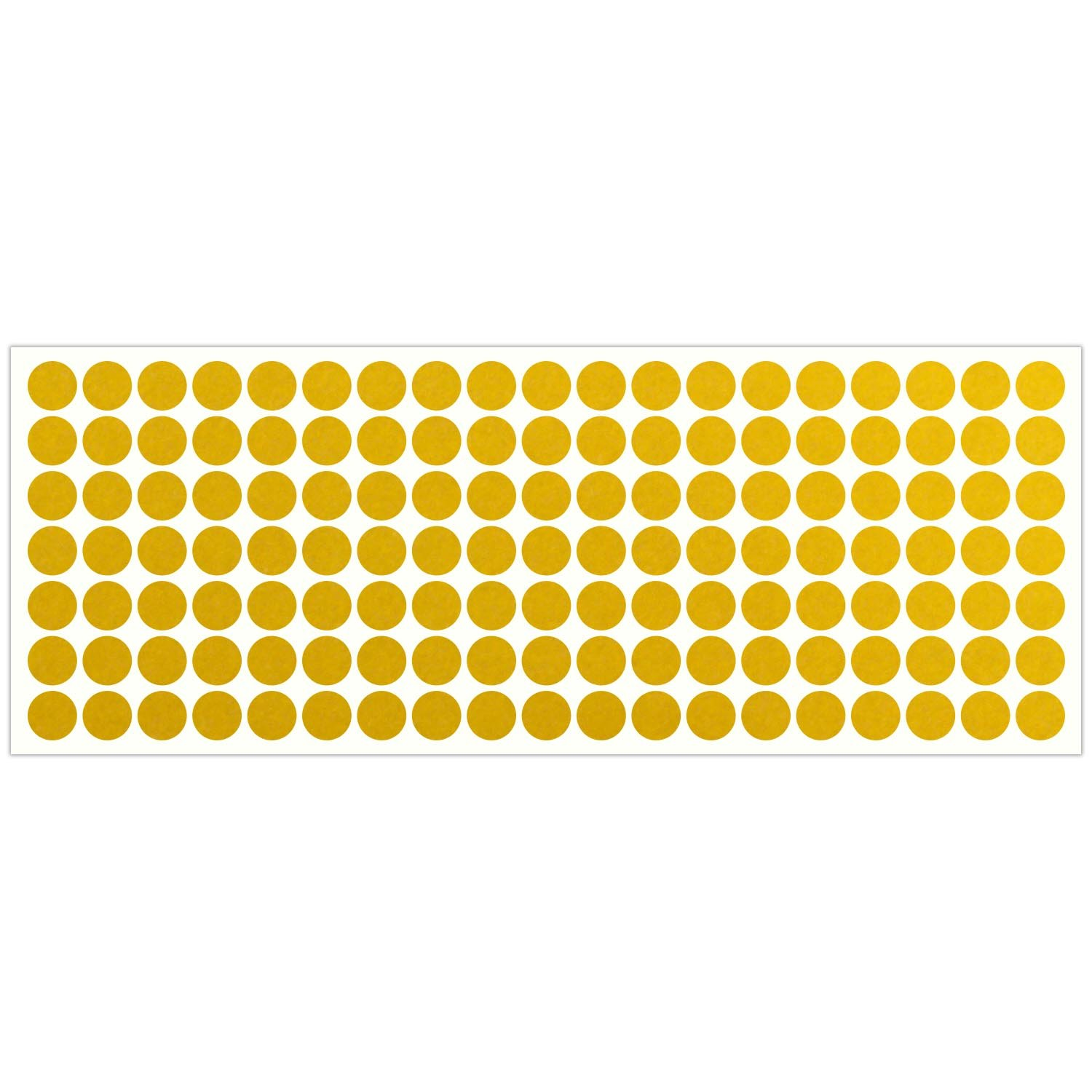 LiteMark Reflective Yellow 0.5 Inch Dot Sticker Decals for Helmets, Bicycles, Strollers, Wheelchairs and More - Pack of 133