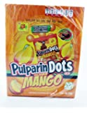 De La Rosa Pulparindots Hot Mango Flavor, 20 Packets, 10 Pcs EA. Mexican Candy with Free Chocolate Kinder Bar Included Valentine's Day