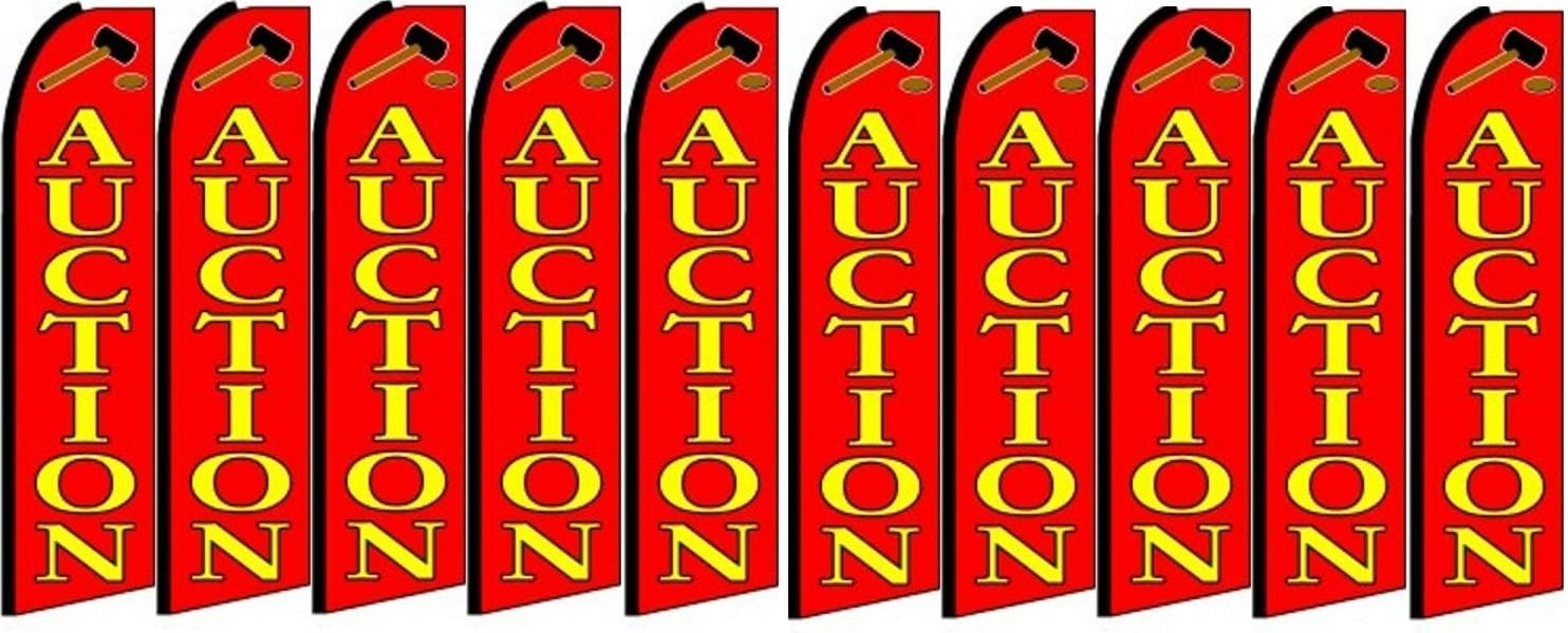 Pack of 10 Hardware not Included Auction King Swooper Feather Flag Sign