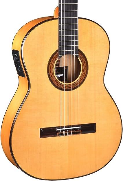 Merida f-95eh Flamenco Electro-Classical Guitar, sólido Sitka ...