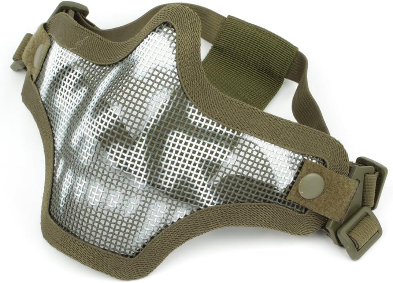 GES al Aire Libre táctico CS Malla de Alambre máscara Airsoft Malla de Acero máscara de la Mitad de la Cara con Camuflaje para Airsoft Shooting Paintball