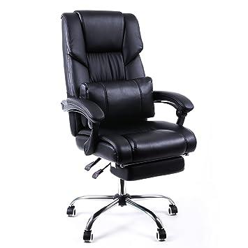 Bürosessel mit liegefunktion  Songmics Bürostuhl Chefsessel Bürodrehstuhl Drehstuhl mit ...