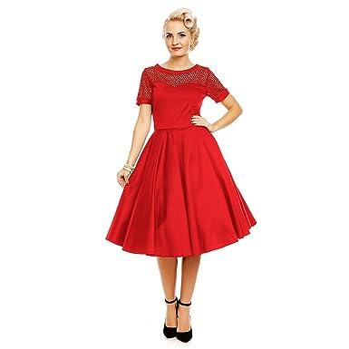 3ba88f3878771b Dolly and Dotty Damen Lace Rockabilly Petticoat Kleid: Amazon.de: Bekleidung