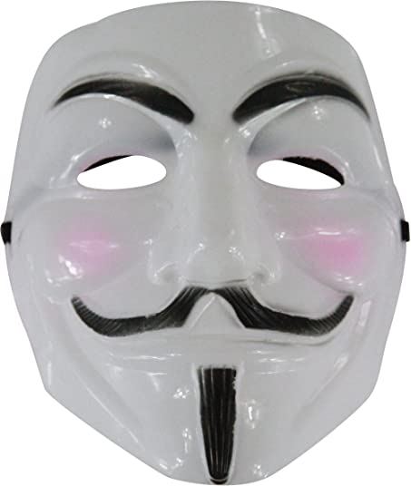 Kayso Adult White Guido Guy Fawkes V Anarchist Anonymous Mask Costume Accessory