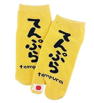 Tabi calcetines de tempura de japonés Split 2 par Toe Ninja Geta Flip Flop Sandal Tobillo Calcetines Altos Unisex para hombre para mujer: Amazon.es: ...