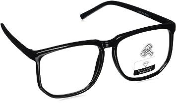 c35db15d6c Large Square Clear Lens Black Frame Wayfarer Nerd Glasses 03 BuyinCoins