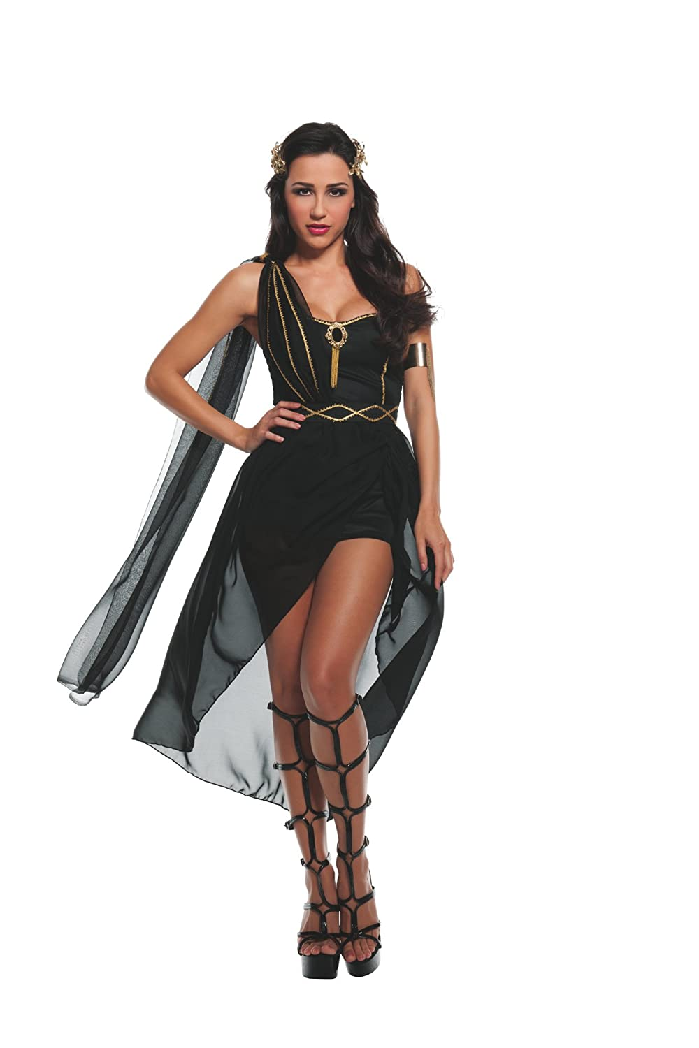 womens sexy dark roman goddess costume amazoncouk clothing