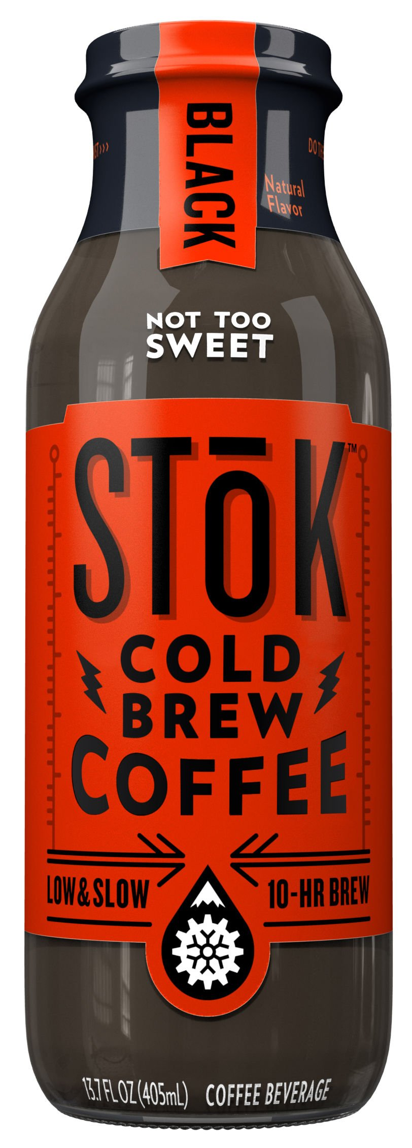 SToK Cold Brew Iced Coffee, Black, 13.7 oz