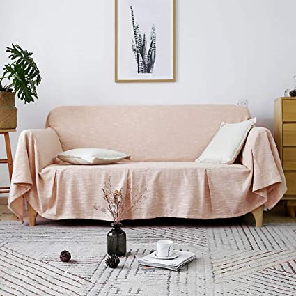 Amazon.com: SANDM Full Cover Cotton and Linen Sofa slipcover, 1 ...