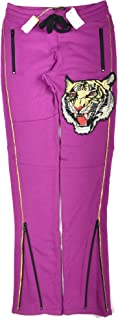 product image for Robin's Jean Men's Tiger Patch Cotton-Blend Slim Size 30W-32L Joggers Purple