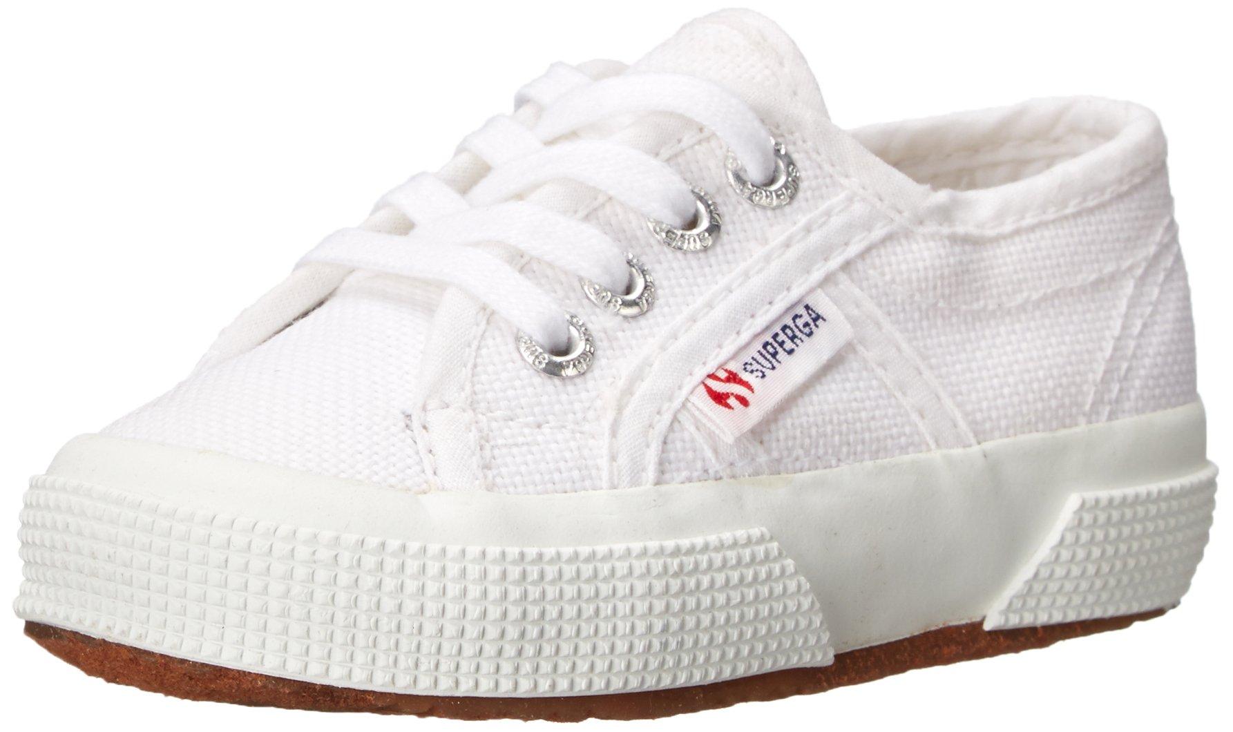 Superga Kids Unisex 2750 JCOT Classic (Toddler/Little Kid) White Sneaker 22 (US 6.5 Toddler) M