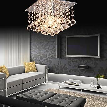 Annttrade Modern Silver Chrome Crystal Chandelier Light Ceiling Pendant Lamp Lighting Bedroom Living Room