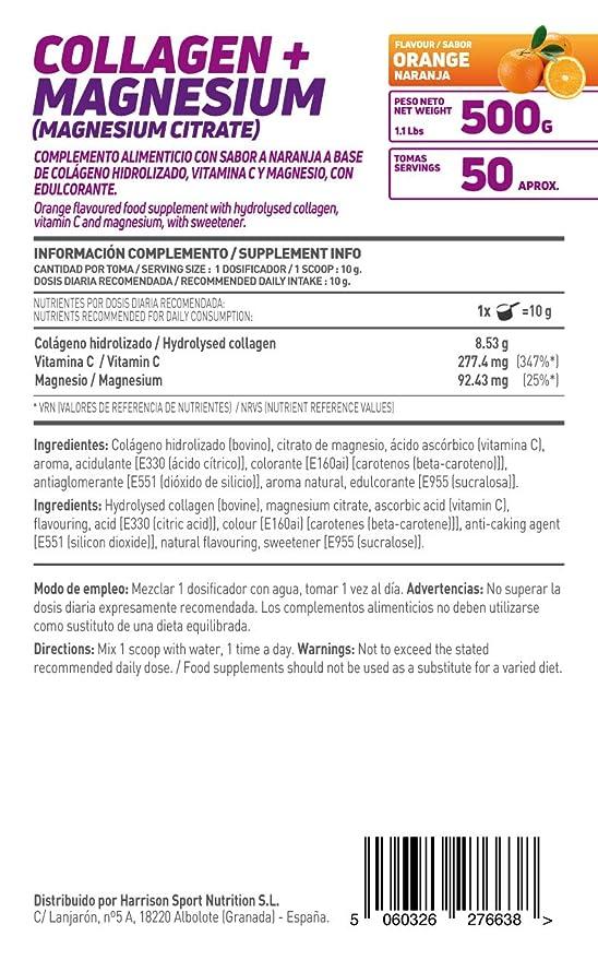 HSN Essentials - Colágeno Hidrolizado + Magnesio 2.0 - Sabor Naranja - En Polvo 500 g: Amazon.es: Alimentación y bebidas