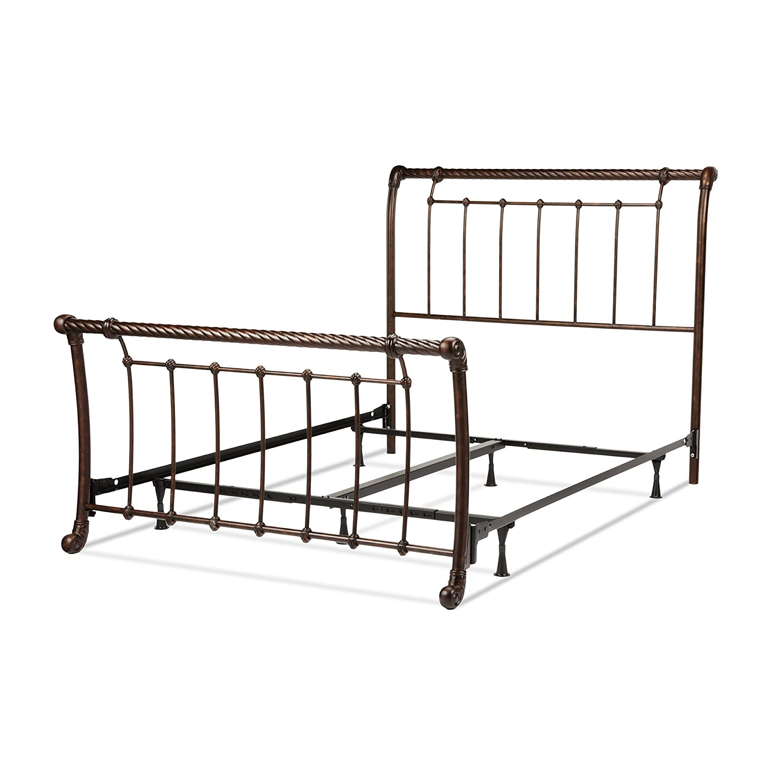 Amazon Legion plete Bed with Metal Sleigh Panels and