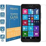 PREMYO verre trempé Lumia 640 XL. Film protection Lumia 640 XL avec un degré de dureté de 9H et des angles arrondis 2,5D. Protection écran Lumia 640 XL