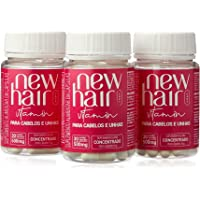 New Hair 30 Capsulas Feminino Suplemento Alimentar para Cabelos e Unhas - tratamento 90 dias
