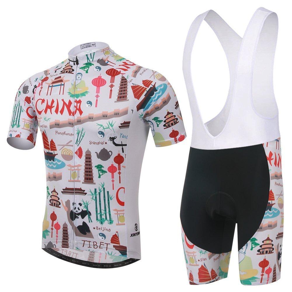 Amazon.com   Xinzechen Cycling Jersey Bib Tights Sets Short Sleeve 3D  Padded   Sports   Outdoors f07d4fe5a