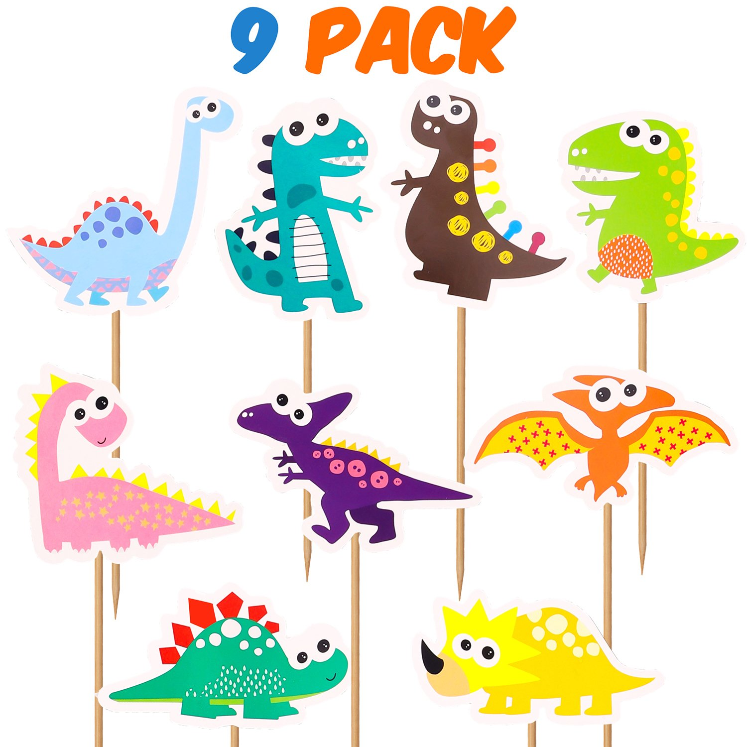 Colorful Felt Banner for DIY Dinosaur Party Supplies and Favors Jungle Jurassic Garland Photo Props WATINC 32 Pack Dinosaur Birthday Banner and Cake Topper for Kids Birthday Party Decorations