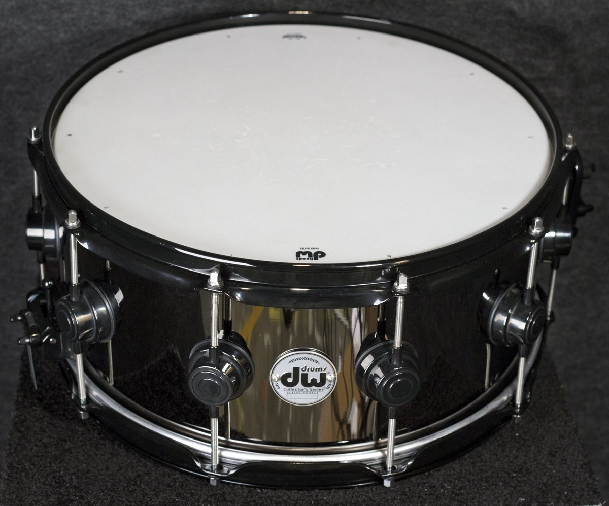 DW Collector's Series Black Nickel Over Brass Snare Drum 6.5x14'' DRVB6514SVC