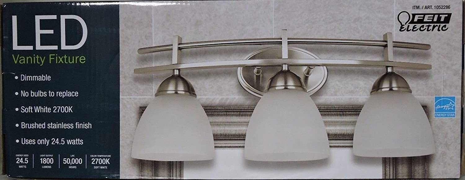 Feit Electric LED Vanity Fixture With 3 Lights Dimmable Soft White 2700K