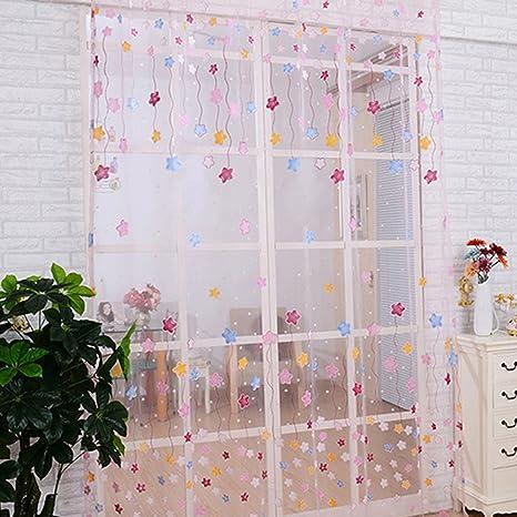Fastar cortinas infantiles - estrella linda impresión translúcida de la  cortina para la habitación de los niños