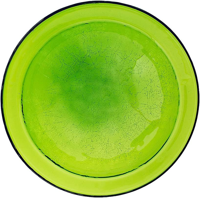 Amazon Com Achla Designs Crackle Glass Bowl 12 In Fern Green Crackle Glass Birdbath Garden Outdoor