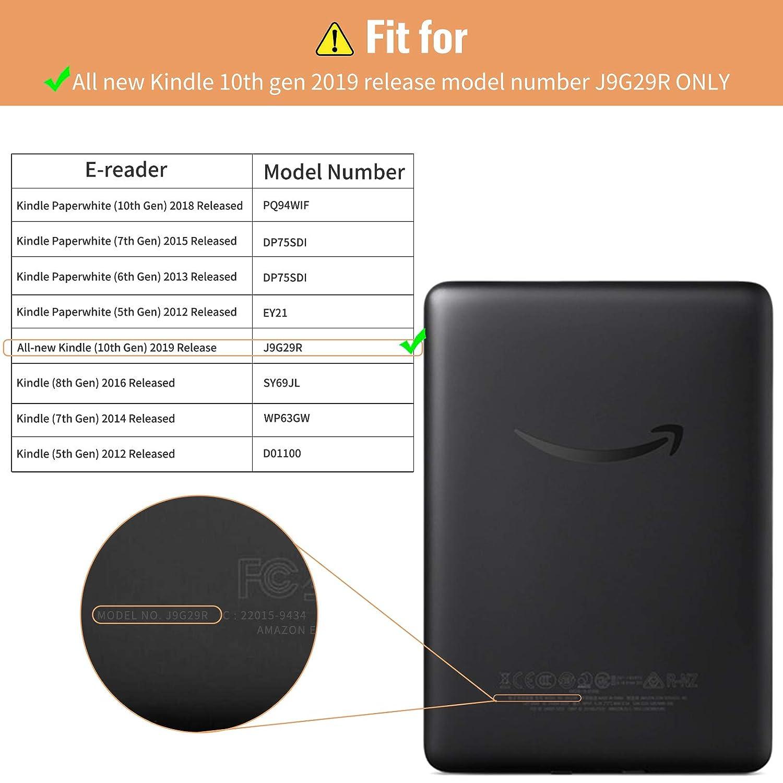 Slim Coque Cover Case de Protection avec Fonction Veille//R/éveil Automatique Infiland Housse /Étui pour  Kindle 2019 Rose Or 10/ème g/én/ération