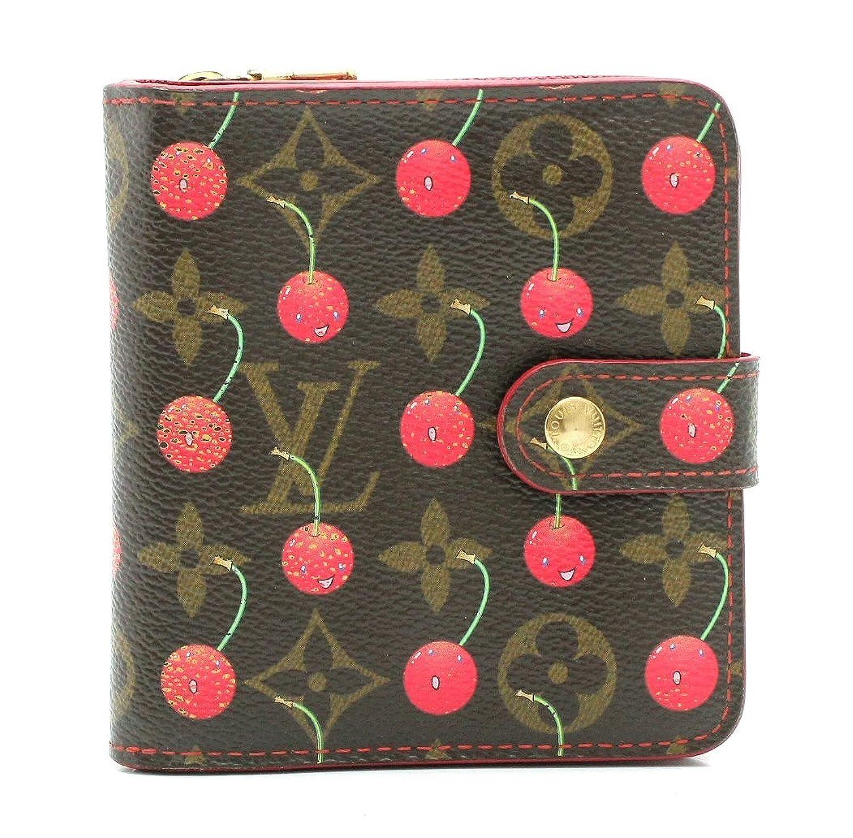 [ルイ ヴィトン] LOUIS VUITTON モノグラムチェリー コンパクトジップ 2つ折 コの字型ファスナー財布 さくらんぼ M95005 B07B9ZY7FK