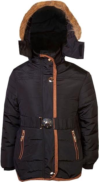 LOTMART Boys Padded Fleece Lining Winter Jacket Detach Hood